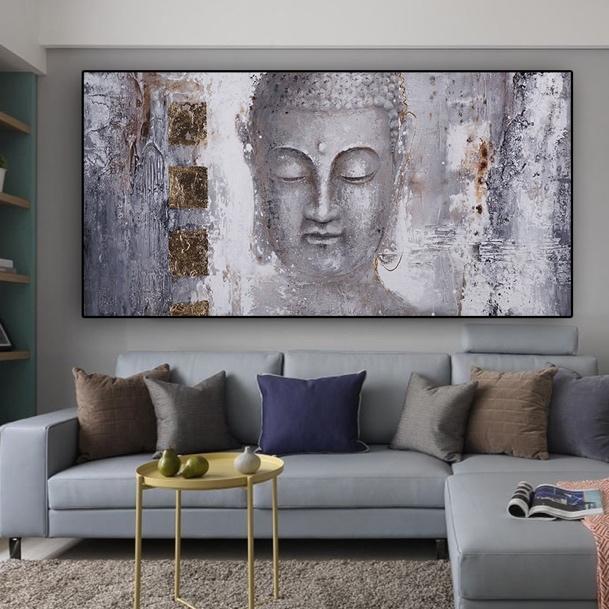 Le tableau tête de Bouddha